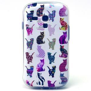 Gloss gelový kryt na Samsung Galaxy S3 mini - kočičky - 1