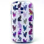 Gloss gelový kryt na Samsung Galaxy S3 mini - kočičky - 1/4