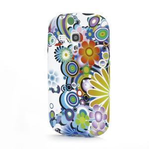 Emotive gelový obal na Samsung Galaxy S3 mini - barevné květiny - 1