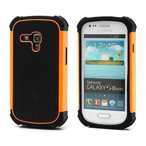Outdoor odolný obal na mobil Samsung Galaxy S3 mini - oranžový - 1