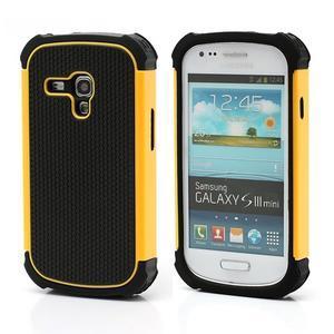 Outdoor odolný obal na mobil Samsung Galaxy S3 mini - žlutý - 1