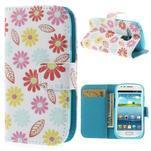 Knížkové pouzdro na mobil Samsung Galaxy S3 mini - květiny - 1/7