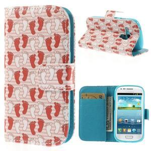 Knížkové pouzdro na mobil Samsung Galaxy S3 mini - tlapky - 1