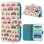 Knížkové pouzdro na mobil Samsung Galaxy S3 mini - autíčka - 1/7