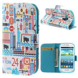Knížkové pouzdro na mobil Samsung Galaxy S3 mini - New York - 1