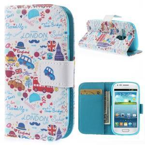Knížkové pouzdro na mobil Samsung Galaxy S3 mini - Londýn - 1