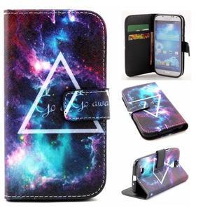 Standy peněženkové pouzdro na Samsung Galaxy S4 - triangl - 1