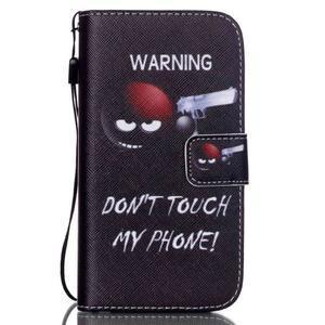 Knížkové koženkové pouzdro na Samsung Galaxy S4 - nešahat - 1