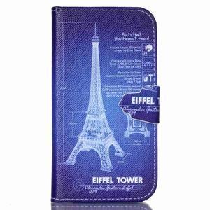 Emotive knížkové pouzdro na Samsung Galaxy S4 - Eiffelova věž - 1