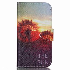 Emotive knížkové pouzdro na Samsung Galaxy S4 - východ slunce - 1