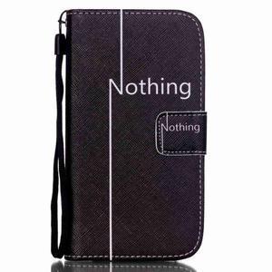 Knížkové koženkové pouzdro na Samsung Galaxy S4 - nothing - 1