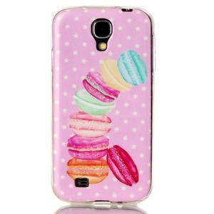 Softy gelový obal na mobil Samsung Galaxy S4 - makrónky - 1
