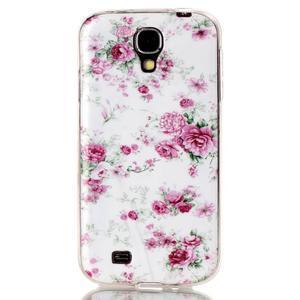 Softy gelový obal na mobil Samsung Galaxy S4 - květiny - 1