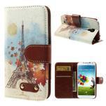 Elegant peněženkové pouzdro na Samsung Galaxy S4 - Eiffelova věž - 1/7