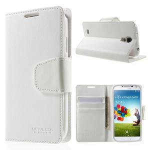 Diary PU kožené pouzdro na mobil Samsung Galaxy S4 - bílé - 1