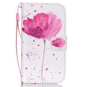 Knížkové koženkové pouzdro na Samsung Galaxy S4 - flower - 1