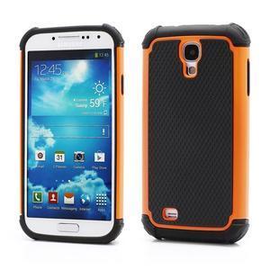 Outdoor odolný silikonový obal na Samsung Galaxy S4 - oranžový - 1