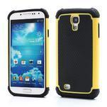 Outdoor odolný silikonový obal na Samsung Galaxy S4 - žlutý - 1/5
