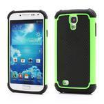 Outdoor odolný silikonový obal na Samsung Galaxy S4 - zelený - 1/5