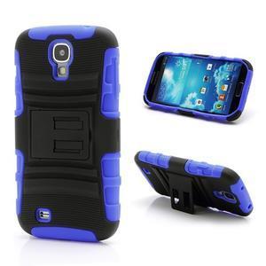 Odolný ochranný silikonový kryt na Samsung Galaxy S4 - modrý - 1