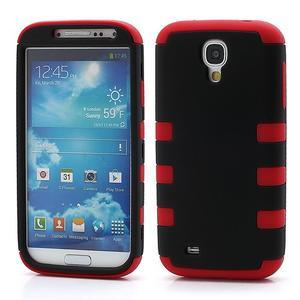 Extreme odolný gelový obal 2v1 na Samsung Galaxy S4 - červený - 1