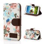 Květinové pouzdro na mobil Samsung Galaxy S4 - bílé pozadí - 1/7