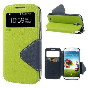 Okýnkové peněženkové pouzdro na mobil Samsung Galaxy S4 - zelené - 1