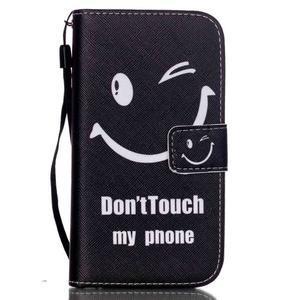 Knížkové koženkové pouzdro na Samsung Galaxy S4 - nedotýkat se - 1