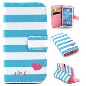 Standy peněženkové pouzdro na Samsung Galaxy S4 - love - 1