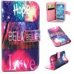 Standy peněženkové pouzdro na Samsung Galaxy S4 - believe - 1/7