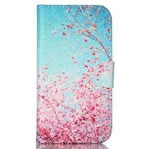 Emotive peněženkové pouzdro na Samsung Galaxy S4 mini - kvetoucí švestka - 1