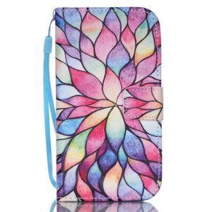 Diary peněženkové pouzdro na mobil Samsung Galaxy S4 mini - barevné lístky - 1