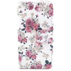 Pouzdro na mobil Samsung Galaxy S4 mini - květiny - 1