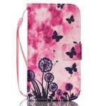 Diary peněženkové pouzdro na mobil Samsung Galaxy S4 mini - motýlci - 1/6