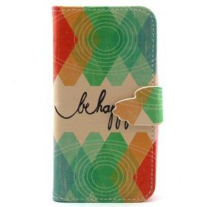Diaryleather pouzdro na mobil Samsung Galaxy S4 mini - be happy - 1