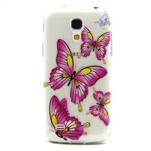 Transparentní gelový obal na Samsung Galaxy S4 mini - motýlci - 1