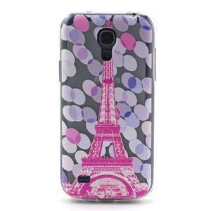 Transparentní gelový obal na Samsung Galaxy S4 mini - Eiffelova věž - 1