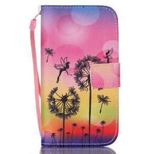 Diary peněženkové pouzdro na mobil Samsung Galaxy S4 mini - pampelišky - 1