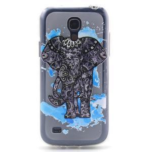 Transparentní gelový obal na Samsung Galaxy S4 mini - slon - 1