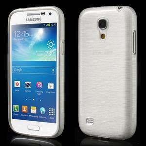 Brushed gelový obal na mobil Samsung Galaxy S4 mini - bílý - 1