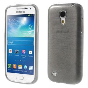 Brushed gelový obal na mobil Samsung Galaxy S4 mini - šedý - 1