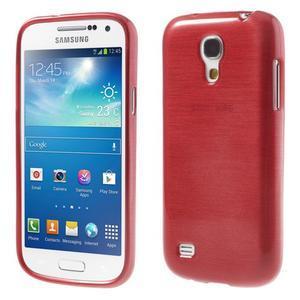 Brushed gelový obal na mobil Samsung Galaxy S4 mini - červený - 1