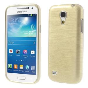Brushed gelový obal na mobil Samsung Galaxy S4 mini - zlatý - 1