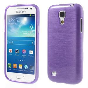 Brushed gelový obal na mobil Samsung Galaxy S4 mini - fialový - 1