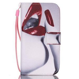 Diary peněženkové pouzdro na mobil Samsung Galaxy S4 mini - sexy rty - 1