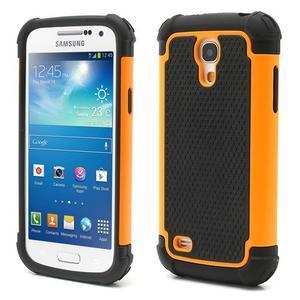 Extreme odolný kryt na mobil Samsung Galaxy S4 mini - oranžový - 1
