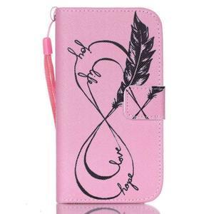 Diary peněženkové pouzdro na mobil Samsung Galaxy S4 mini - love - 1