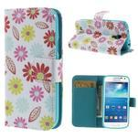 Style peněženkové pouzdro na Samsung Galaxy S4 mini - květinky - 1/7