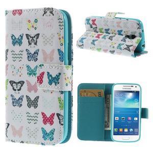 Style peněženkové pouzdro na Samsung Galaxy S4 mini - motýlci - 1