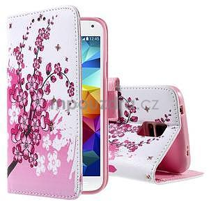 Ochranné pouzdro na mobil Samsung Galaxy S5 - kvetoucí větvička - 1